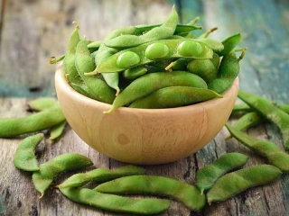 image of Edamame beans in the pod