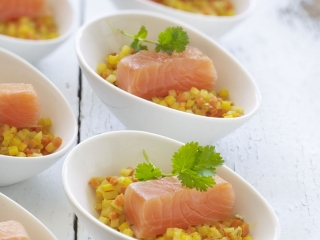 image of Spicy brunoise with salmon