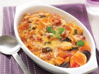 image of Mediterranean vegetable dish au gratin